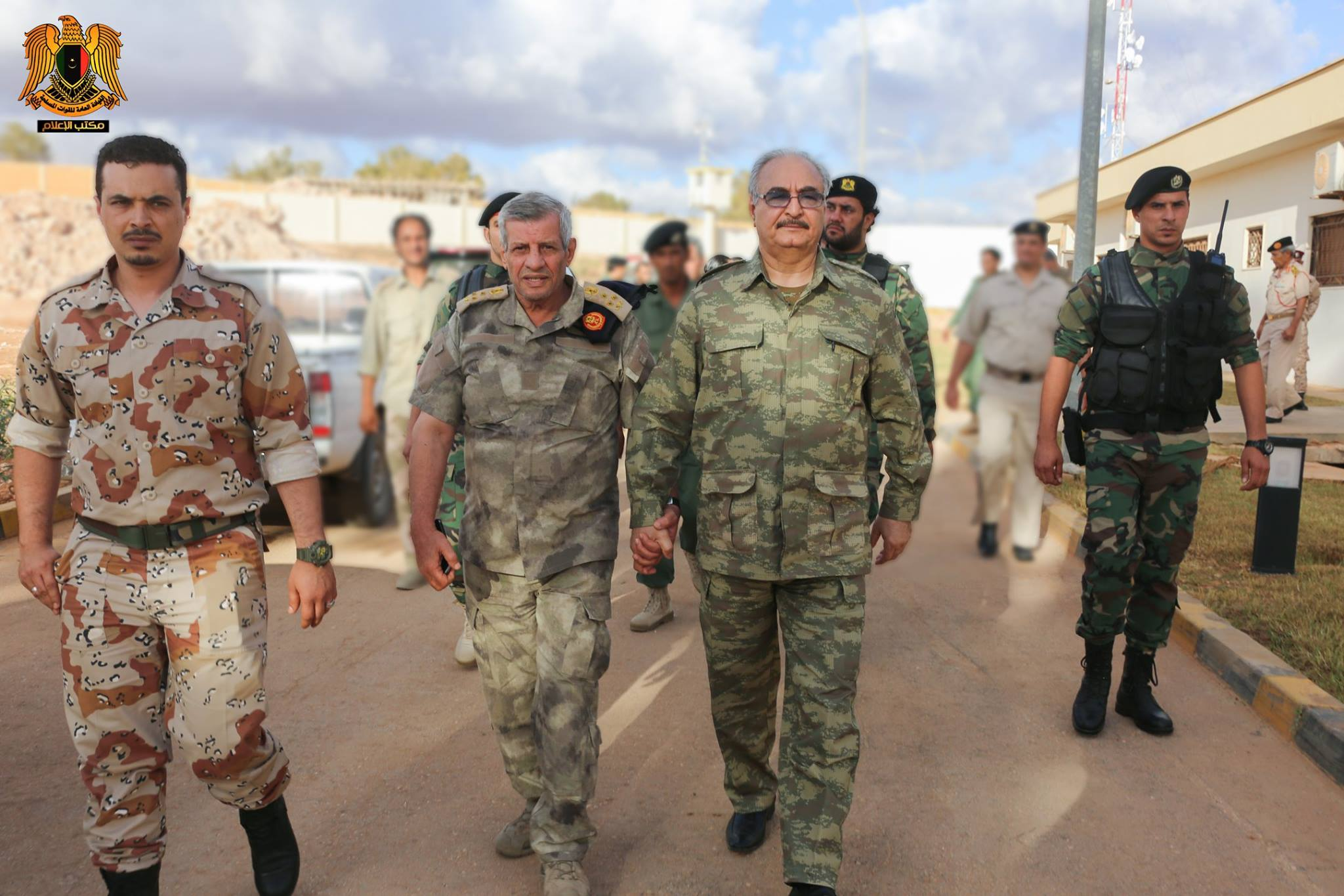 Khalifa Haftar meets with field commanders of the Libyan National Army on September 9, 2016 (photo via Media Office of the Libyan National Army Facebook page).