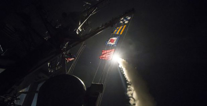 Missile Launched from USA Ship