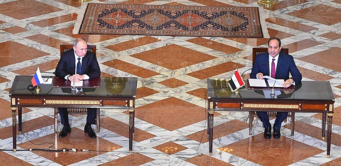 Egyptian President Abdel-Fattah El Sisi and Russian President Vladimir Putin